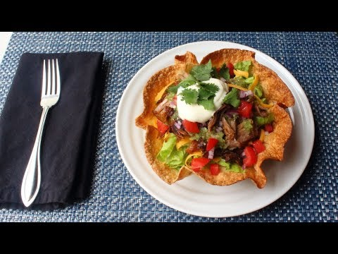 Crispy Basket Burrito – How to Make Crispy Tortilla Bowls in the Oven
