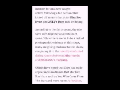 Sandara park and kim soo hyun dating rumors
