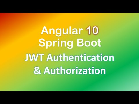 Angular + Spring Boot JWT Authentication & Authorization example