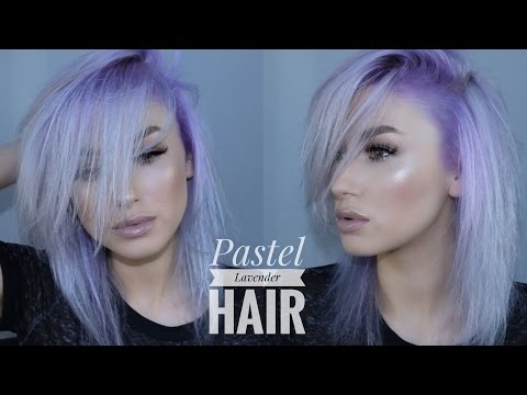 PASTEL LAVENDER HAIR   My hair dye routine   lolaliner