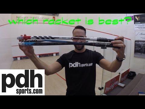 Tecnifibre Carboflex 135 Blue v Carboflex 130 Basaltex squash racket review by PDHSports.com