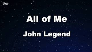 All Of Me   John Legend Karaoke 【No Guide Melody】 Instrumental