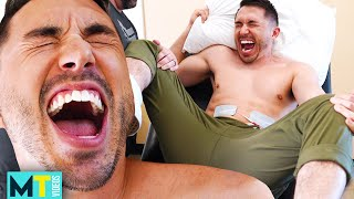 Men Try REAL Labor Pain Simulation - *Extremely Painful*