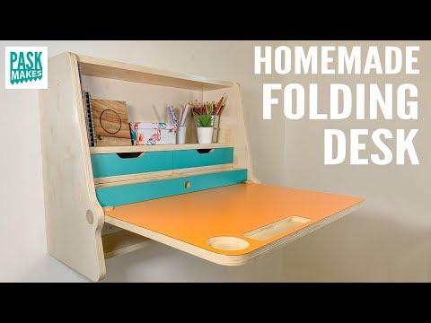 Homemade Folding Desk