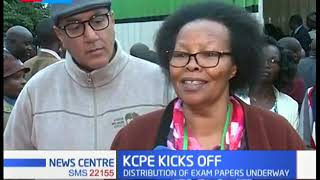 Najib Balala oversees the opening of the containers with the KCPE exam papers in Nairobi