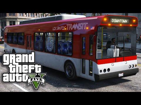 GTA 5 SP #20 - Life of... A Bus Driver