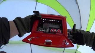 Газовое обогреватели для зимней рыбалки в палатке