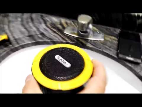 Waterproof Bluetooth Speaker -RG3601 RG SATELLITE 2  waterproof test