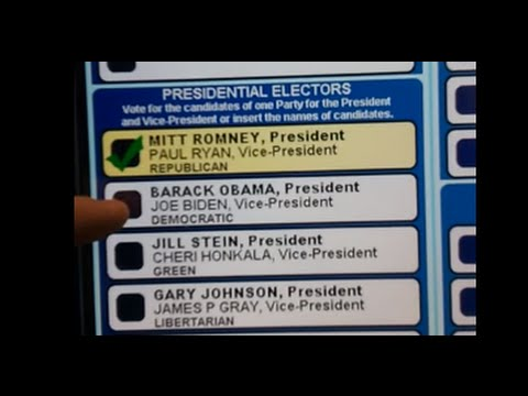 This Voting Machine Won't Let You Vote For Obama