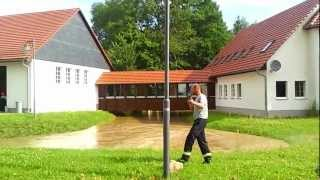 preview picture of video 'Hochwasser am Weißen Schöps'