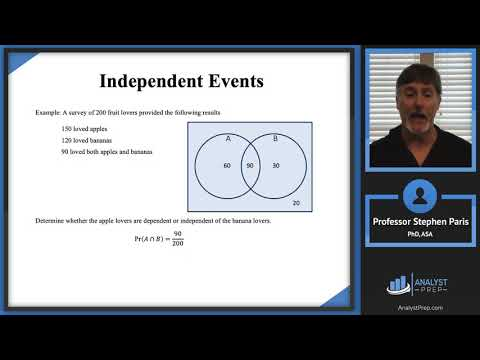 Independent Events (SOA Exam P – Probability – General ...