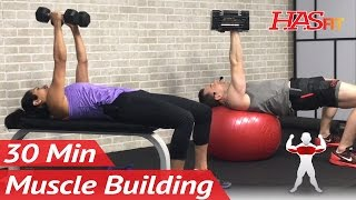 30 Min Chest and Tricep Workout to BUILD MUSCLE Muscle Building Workouts Chest Triceps Bodybuilding by HASfit