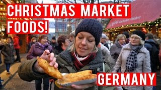 FOODS TO EAT AT A GERMAN CHRISTMAS MARKET!