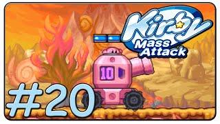 Kirby Mass Attack 100% Walkthrough Part 20 Volcano Valley Stage 2 & 3