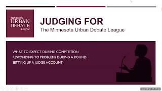 New High School Policy Debate Judge Training - MDAW