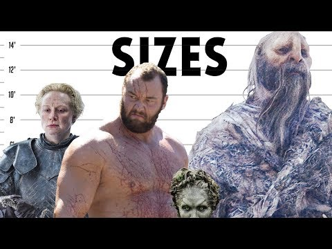 Game of Thrones Character Sizes