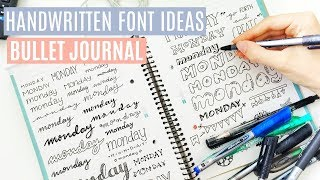40+ HAND LETTERING IDEAS // Bullet Journal Fonts