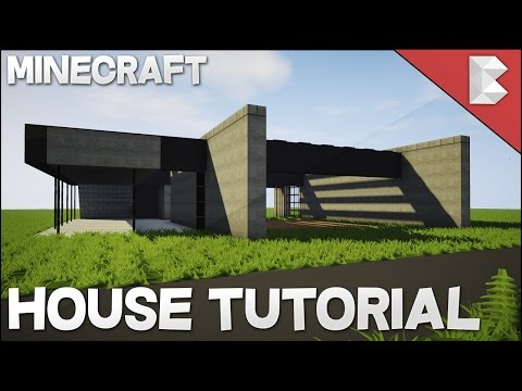 Minecraft: How To Build A Small Modern House in Minecraft House Tutorial - Best House Tutorial 2016 & Minecraft: How To Build A Small Modern House in Minecraft House ...