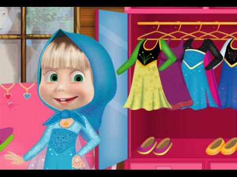 Juegos de Masha y El Oso: Masha y el Oso de vestuario congelado- Vídeos bebé