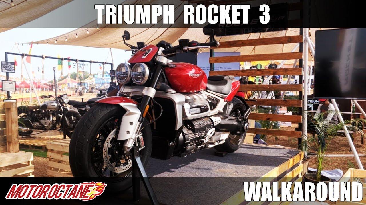 Motoroctane Youtube Video - World's Most Powerful Bike in India - Triumph Rocket 3 R Walkaround | Hindi | MotorOctane