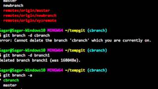 How to delete a branch in git