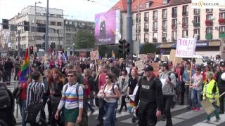preview picture of video 'Marsz Równości. Marsz Kominiarek. Wrocław 6.10.2012'