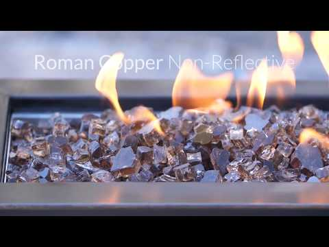 Lakeview Outdoor Designs 1/2-Inch Roman Copper Fire Glass