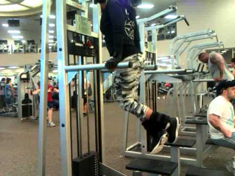 Weighted Dip with Ankle Weights