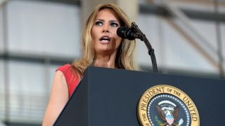 Left attacks first lady over reciting 'The Lord's Prayer'