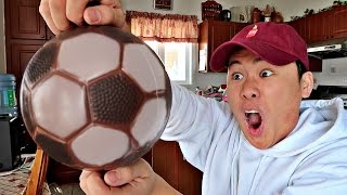 DIY GIANT CHOCOLATE SOCCER BALL!!