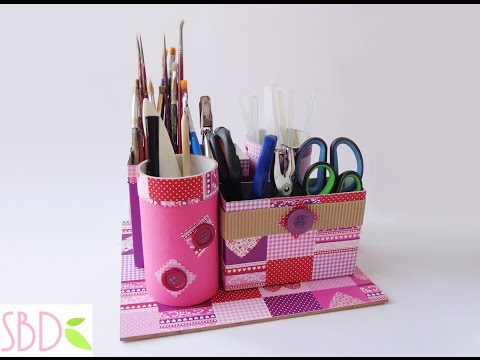 Come fare un Porta oggetti con Riciclo - Tool Box with recycle