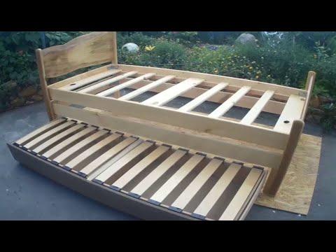Изготовление кровати из дерева своими руками.