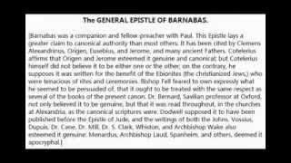 The General Epistle of Barnabas Exposed