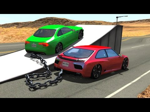Chained Cars Jumps&Crashes  -  BeamNG DRIVE