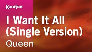 Gambar cover Karaoke I Want It All (Single Version) - Queen *