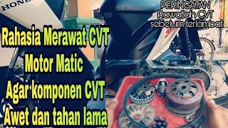Tips Service CVT Motor Matic Supaya Komponen CVT Awet