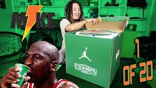 ONLY 1 OF 20 !!! UNBOXING A LIMITED EDITION JORDAN X GATORADE COLLECTION PACKAGE !!!
