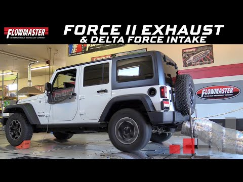 2012-18 Jeep Wrangler JK 3.6L - Flowmaster Force II Exhaust & Performance Air Intake