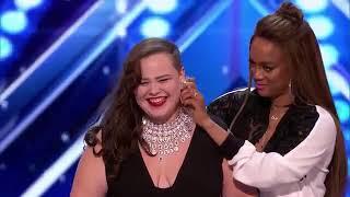 Yoli Mayor sings Ed Sheeran-  Make It Rain Americas Got Talent 2017