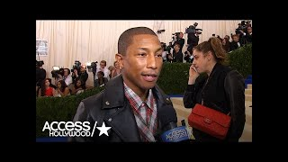 Pharrell On His Love For Comme Des Garçons (Met Gala 2017) | Access Hollywood