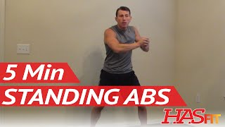 HASfit 5 Minute Standing Abs Workout - Standing Ab Exercises - Abdominal Exercise Standing Up by HASfit