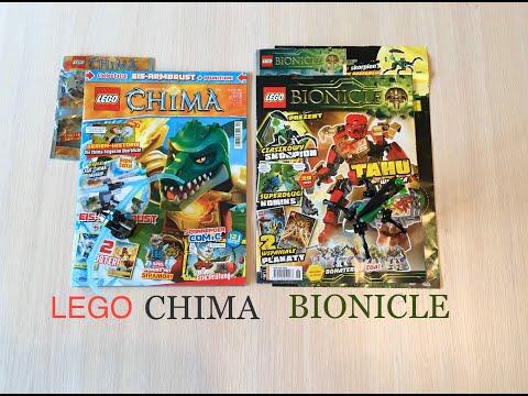 Журнал LEGO CHIMA и LEGO BIONICLE с игрушкой, заказывал на eBay