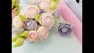 DIY Crepe Paper Cabbage Rose Tutorial