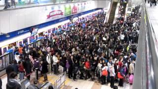 preview picture of video '台北捷運復興站乘客等待上車(4)Taipei MRT'