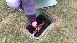 Starting up your sprinkler system in the spring
