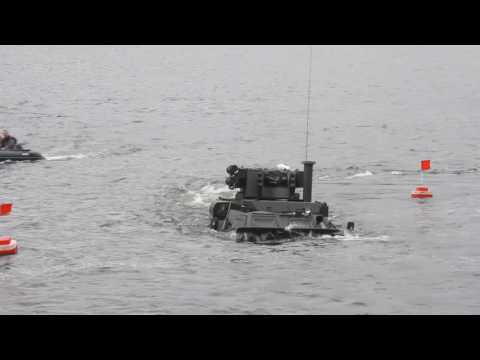 "Tests Ukrainian BTR-4 ""Bucephalus"" on the water"