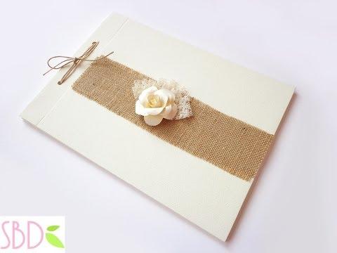 Libro firme per matrimonio fai da te - Shabby Wedding Guestbook