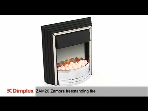 Dimplex Zamora Chrome Optiflame® Freestanding Electric Fire