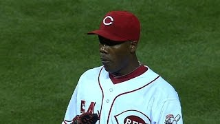 Chapman hits 106 MPH in relief appearance