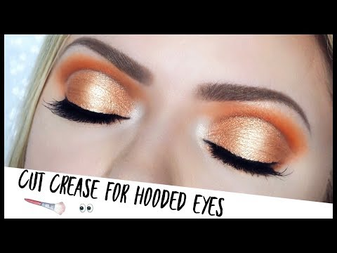 How To Do A Cut Crease On Hooded Eyes!